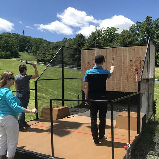 Ax Throwing at Bear Creek Mountain Resort in Macungie Pennsylvania