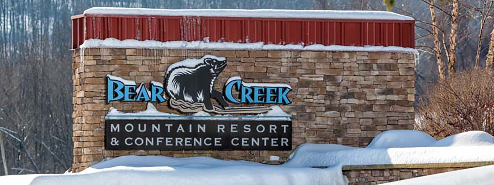 Entry sign to Bear Creek