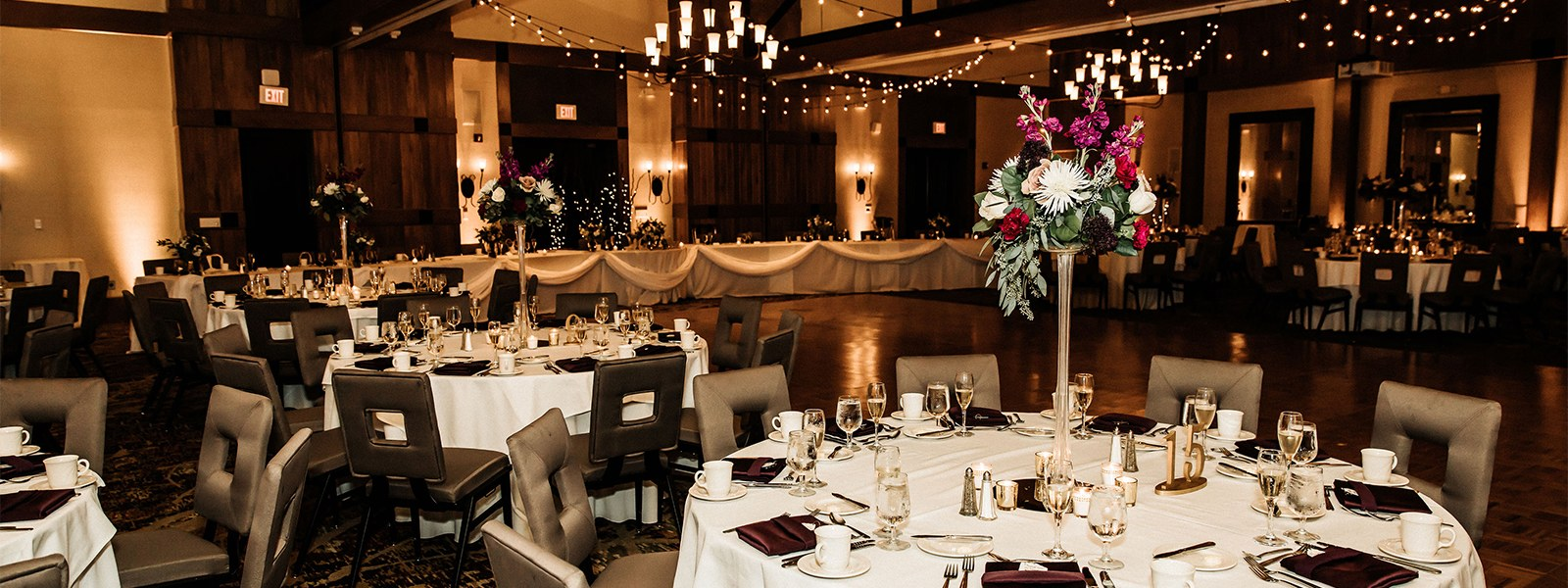Room of tables for wedding event location in pennsylvania