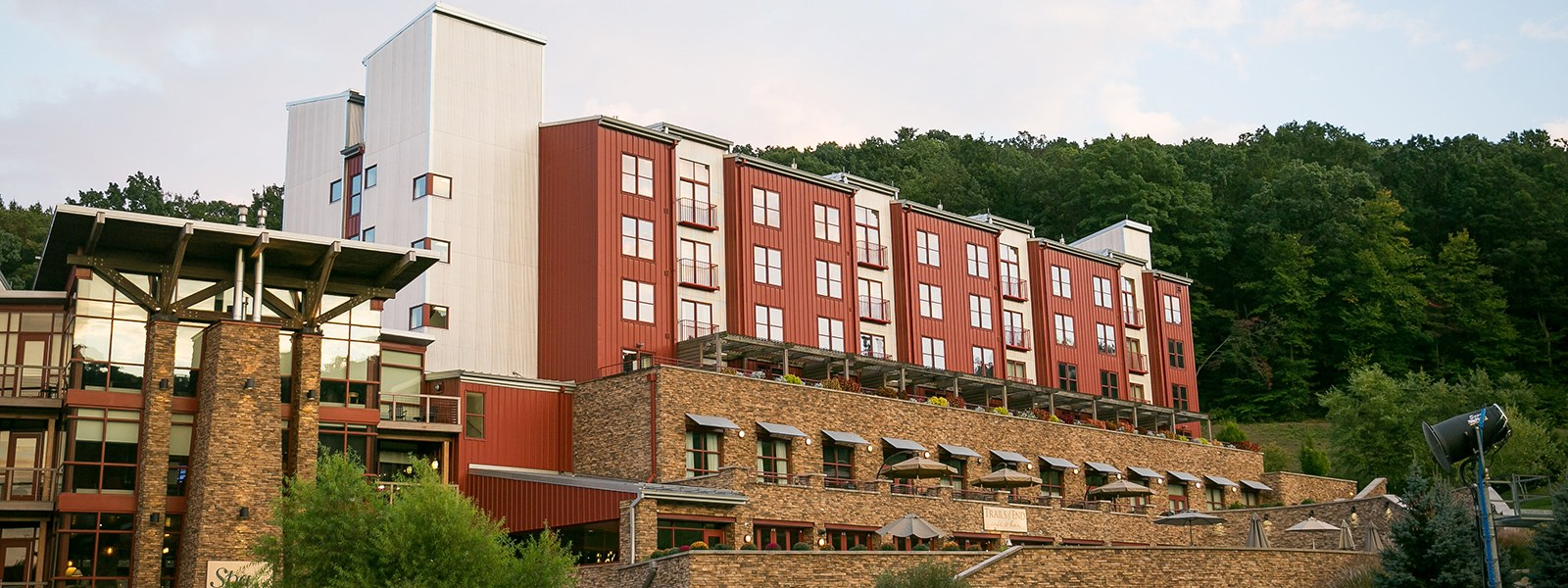 South Tower of the Hotel in Summer