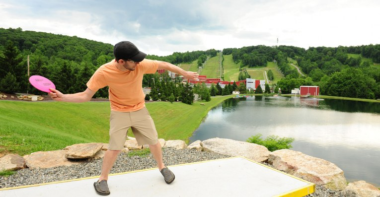 disc golf at bear creek mountain resort