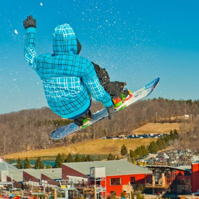 snowboarder at snowboarding in pennsylvania