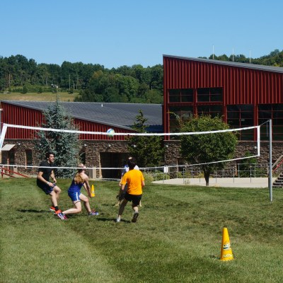 People Playing Volleyball