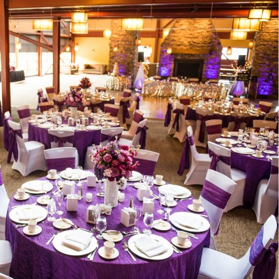 Lodge Wedding with Purple accents